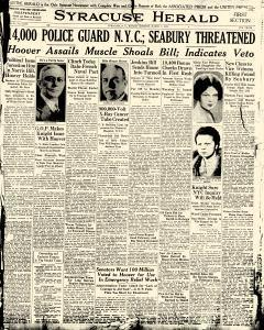 Syracuse Herald, March 01, 1931, Page 1