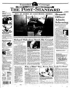 Syracuse Post Standard, April 11, 1997, Page 1