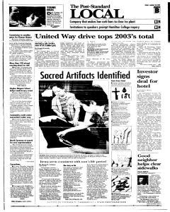 Syracuse Post Standard, January 28, 2005, Page 15
