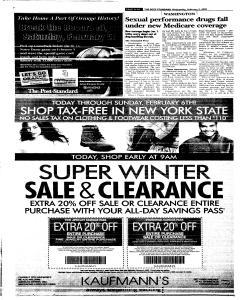 Syracuse Post Standard, February 02, 2005, Page 110