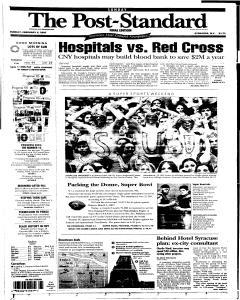 Syracuse Post Standard, February 06, 2005, Page 1