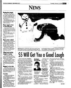 Syracuse Post Standard, February 10, 2005, Page 233