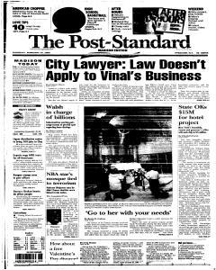 Syracuse Post Standard, February 10, 2005, Page 290