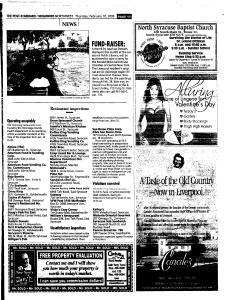Syracuse Post Standard, February 10, 2005, Page 165
