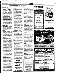 Syracuse Post Standard, February 10, 2005, Page 340