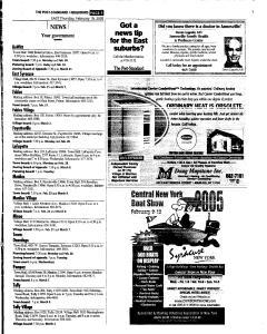 Syracuse Post Standard, February 10, 2005, Page 84