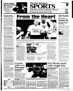 Syracuse Post Standard, February 10, 2005, Page 25