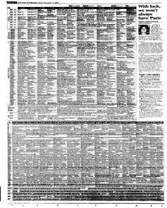 Syracuse Post Standard, February 11, 2005, Page 42