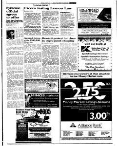 Syracuse Post Standard, February 11, 2005, Page 105