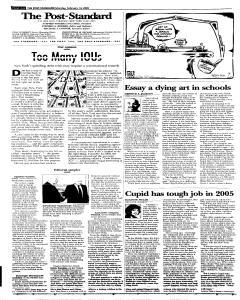 Syracuse Post Standard, February 14, 2005, Page 8