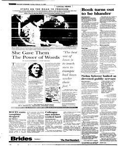 Syracuse Post Standard, February 15, 2005, Page 58