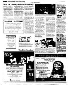Syracuse Post Standard, February 20, 2005, Page 250