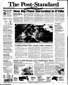Syracuse Post Standard, February 22, 2005, Page 1