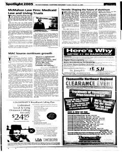 Syracuse Post Standard, February 22, 2005, Page 39