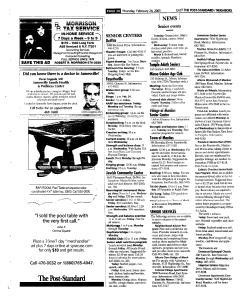 Syracuse Post Standard, February 24, 2005, Page 107