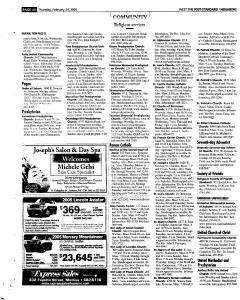 Syracuse Post Standard, February 24, 2005, Page 250