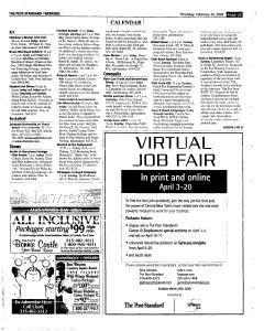 Syracuse Post Standard, February 24, 2005, Page 73
