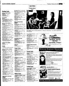 Syracuse Post Standard, February 24, 2005, Page 55