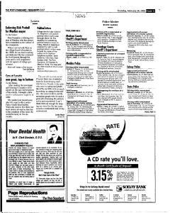 Syracuse Post Standard, February 24, 2005, Page 89