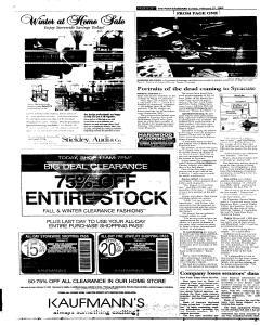 Syracuse Post Standard, February 27, 2005, Page 20
