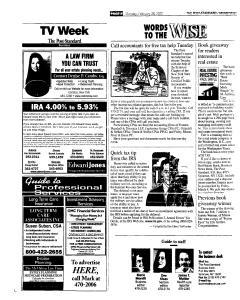 Syracuse Post Standard, February 28, 2005, Page 42