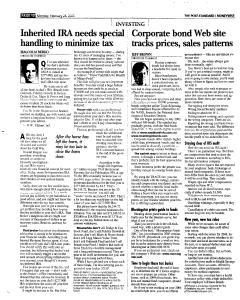 Syracuse Post Standard, February 28, 2005, Page 49