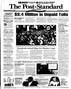 Syracuse Post Standard, February 28, 2005, Page 56