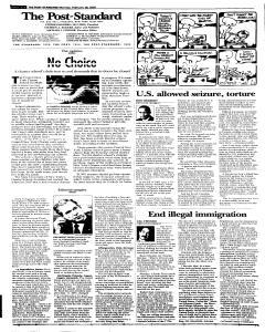 Syracuse Post Standard, February 28, 2005, Page 61