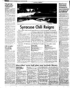 Syracuse Post Standard, February 28, 2005, Page 79