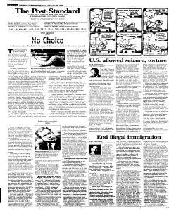 Syracuse Post Standard, February 28, 2005, Page 89