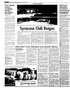 Syracuse Post Standard, February 28, 2005, Page 93