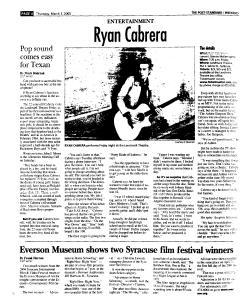 Syracuse Post Standard, March 03, 2005, Page 54