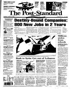 Syracuse Post Standard, March 03, 2005, Page 323