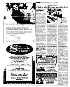 Syracuse Post Standard, March 10, 2005, Page 22