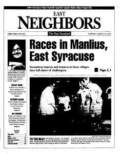 Syracuse Post Standard, March 10, 2005, Page 37