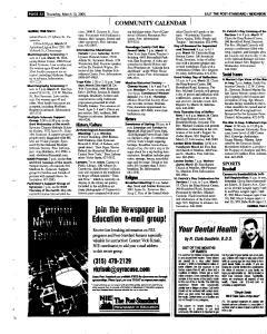 Syracuse Post Standard, March 10, 2005, Page 68