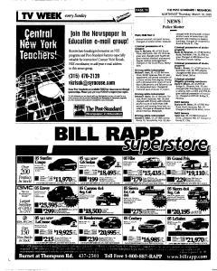 Syracuse Post Standard, March 10, 2005, Page 86