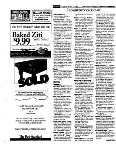 Syracuse Post Standard, March 10, 2005, Page 144