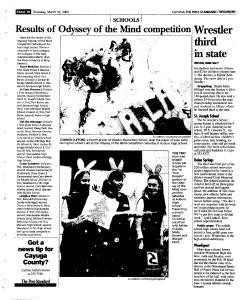 Syracuse Post Standard, March 10, 2005, Page 300