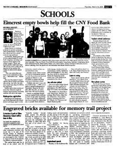 Syracuse Post Standard, March 10, 2005, Page 89