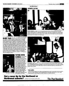 Syracuse Post Standard, March 10, 2005, Page 133