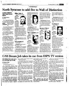 Syracuse Post Standard, March 10, 2005, Page 95