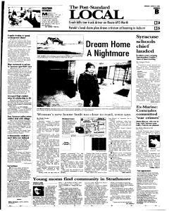 Syracuse Post Standard, March 10, 2005, Page 17