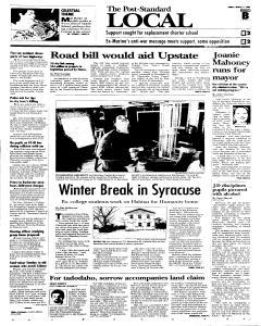 Syracuse Post Standard, March 11, 2005, p. 17