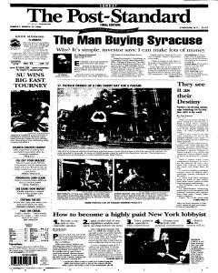 Syracuse Post Standard, March 13, 2005, Page 1