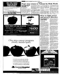 Syracuse Post Standard, March 13, 2005, Page 8