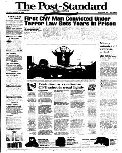 Syracuse Post Standard, March 15, 2005, Page 57