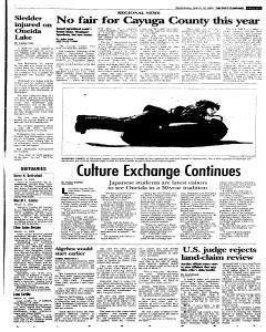 Syracuse Post Standard, March 16, 2005, p. 21