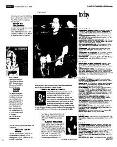 Syracuse Post Standard, March 17, 2005, Page 64
