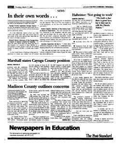 Syracuse Post Standard, March 17, 2005, Page 321